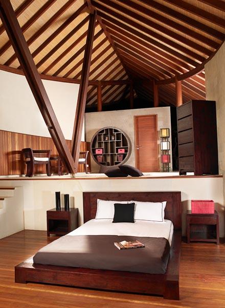 Complete Bedroom Furniture Sets: Lea Platform Bed In Wengé Finish With Complete Bedroom Set