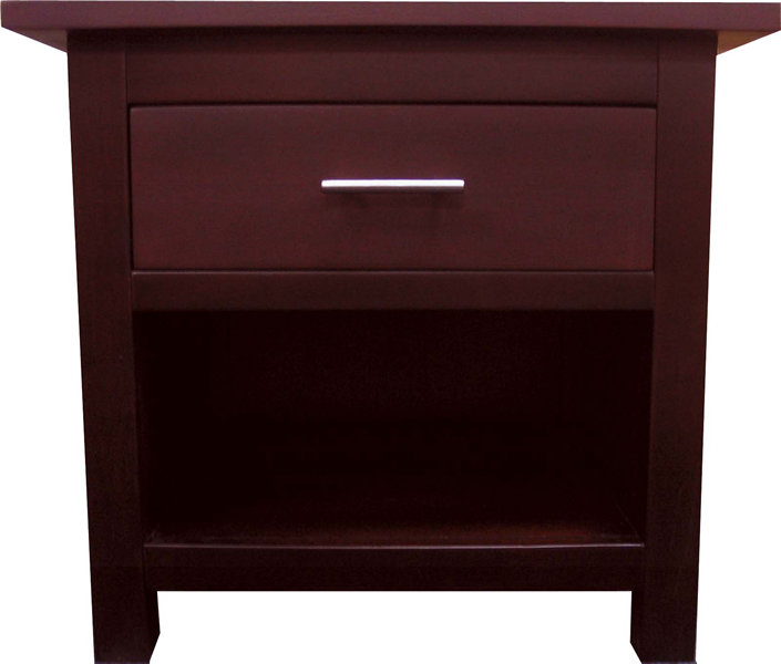 domo 1drawer night stand pictured in antique mahogany the honey oak and antique mahogany night stands match the captains bed finish of the same name