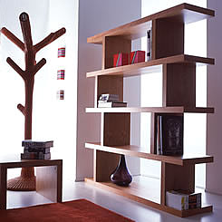 Soho high shelves in cherry finish