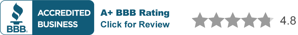 BBB A+ Rating, 4.8 stars