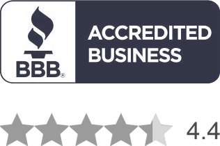 BBB A+ Rating, 4.4 stars