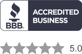 BBB A+ Rating, 5.0 stars