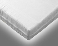 Foam Mattress with White Fabric Cover