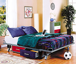 Teen Full Size Bed with attached storage drawers