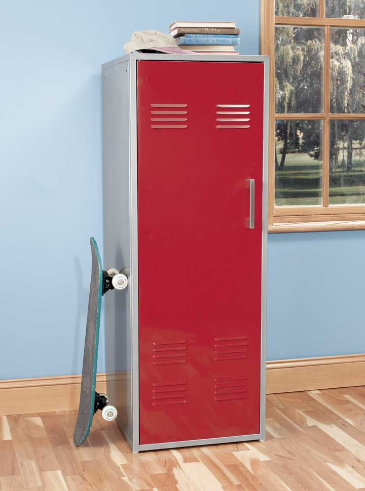 Teen Storage Locker in Red