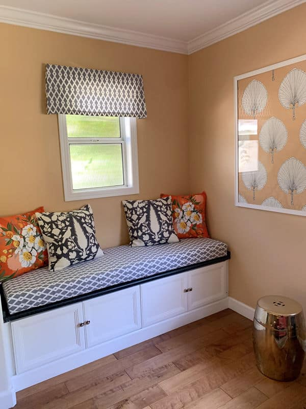 Window Seat Bench Cushion with Customer's Fabric