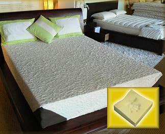 "4"" mattress on bed"