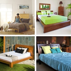 Solid Wood Platform Beds