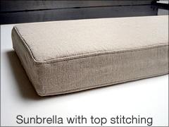 Sunbrella with top stitching